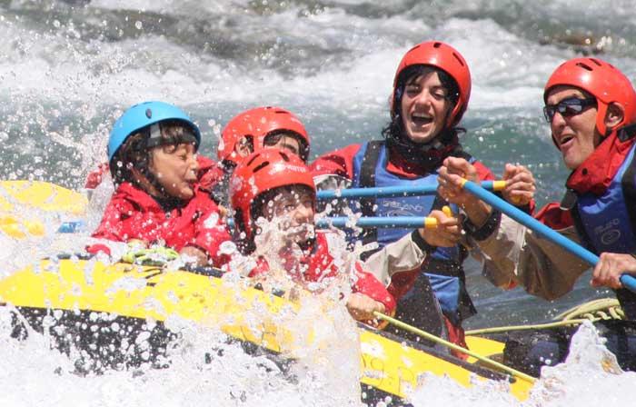 Rafting rio cinca en Pirineos