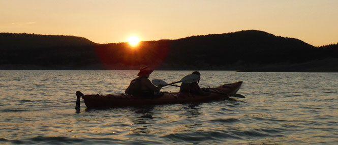 Dia completo de kayak de travesia