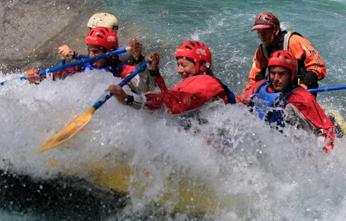 Rafting rio Gallego en los Pirineos de Huesca