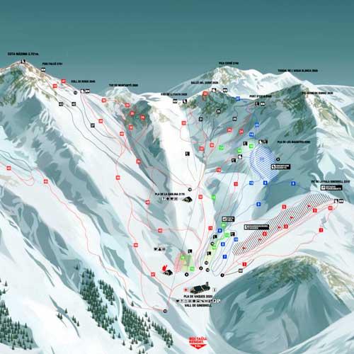 mapa pistas baqueira beret